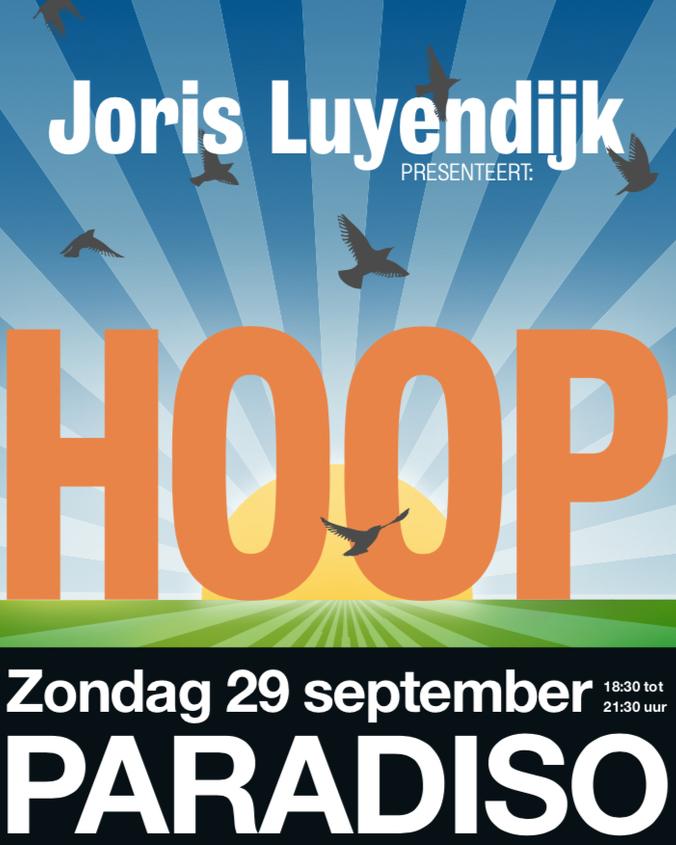 Joris Luyendijk presenteert 'HOOP' in Paradiso