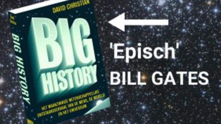 Op 7 september geeft David Christian een lezing over big history